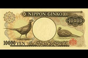 日本銀行券D号10000円裏面