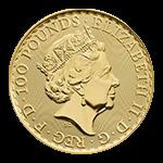 ブリタニア金貨表面