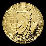 ブリタニア金貨裏面