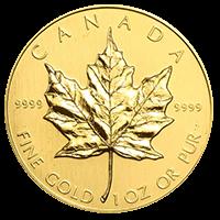 地金型金貨のメイプルリーフ金貨