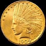 インディアン金貨表面