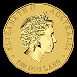 カンガルー金貨表面