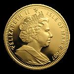 マン島キャット金貨表面