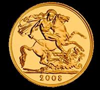 地金型ソブリン金貨