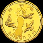 東日本大震災復興事業記念1万円金貨(第一次)表面