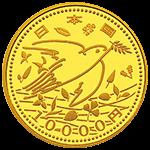 東日本大震災復興事業記念1万円金貨(第四次)表面
