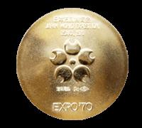 万博記念メダル(金メダル)