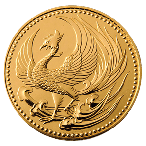 天皇陛下御即位記念10万円金貨表面