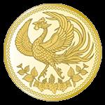 天皇陛下御在位30年記念1万円金貨幣表面